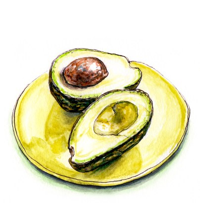 Day 22 - #WorldWatercolorGroup - For The Love Of Avocado - #doodlewash