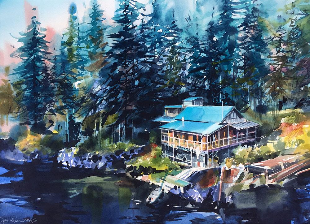 #WorldWatercolorGroup - Watercolor Painting by Joe Cibere - Port Pro - #doodlewash