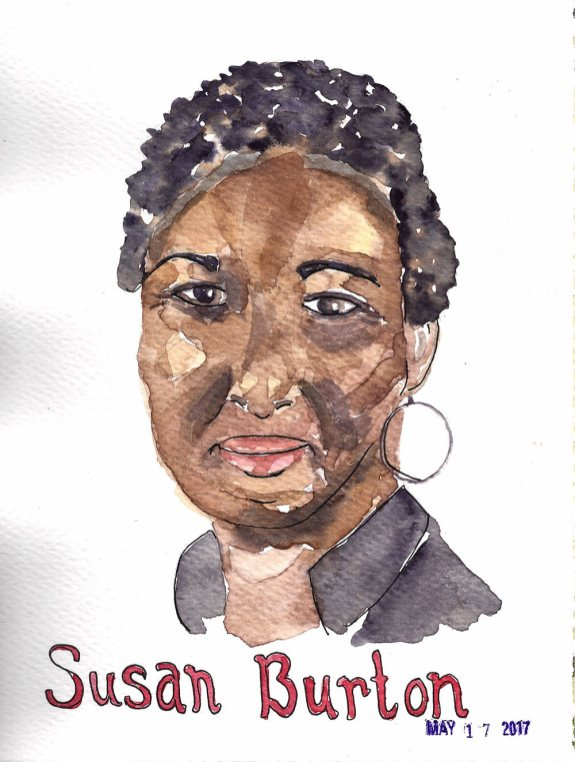 #WorldWatercolorGroup - Watercolor by Cynthia Morris - Portrait of Susan Burton- #doodlewash