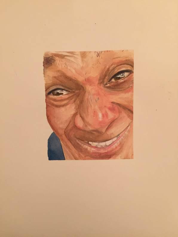#WorldWatercolorGroup - Watercolour by Ian Probert - portrait - #doodlewash