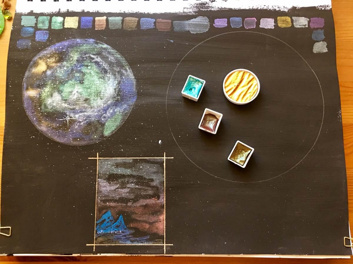 Daniel smith titanium white watercolor ground, mars black watercolor ground, daniel smith luminous watercolors