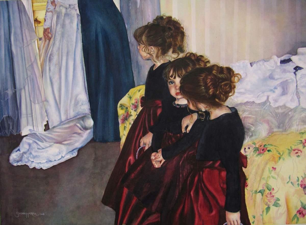 #WorldWatercolorGroup - Watercolor by Susan Walsh - Members Of The Wedding - #doodlewash