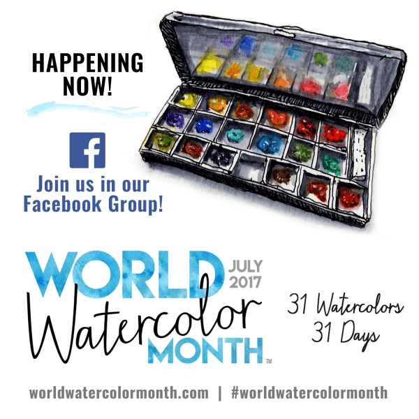 World Watercolor Month Happening Now