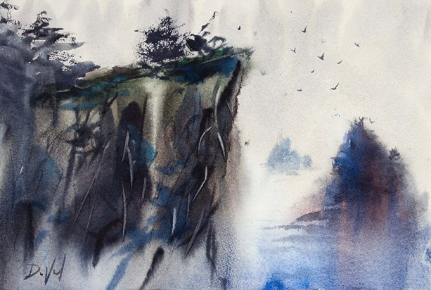 #WorldWatercolorGroup - Watercolor painting by John DuVal - #doodlewash