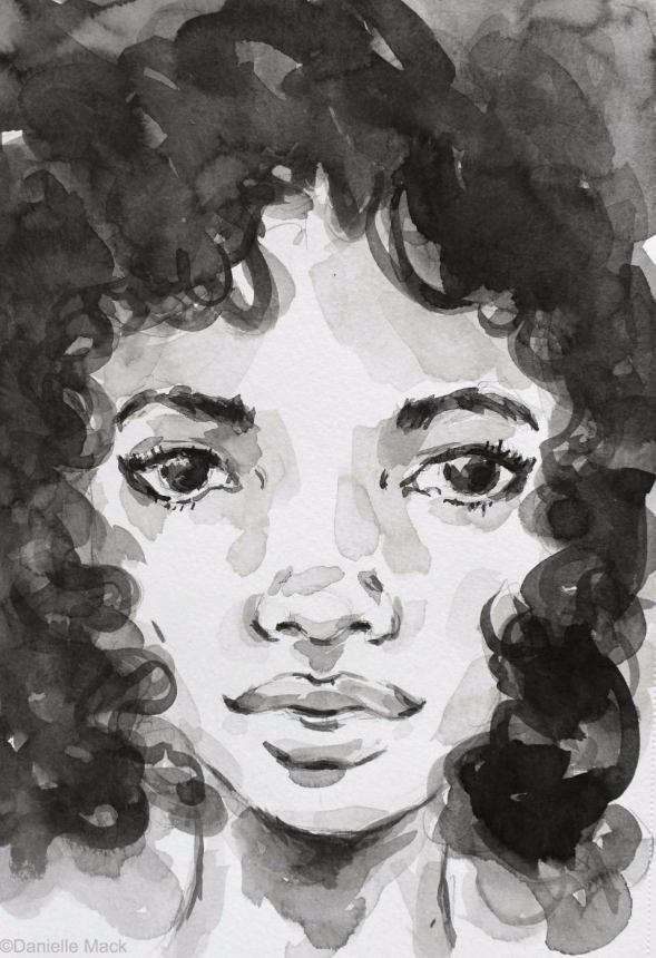 #WorldWatercolorGroup - Watercolor painting by Danielle Mack - fresh curls - #doodlewash
