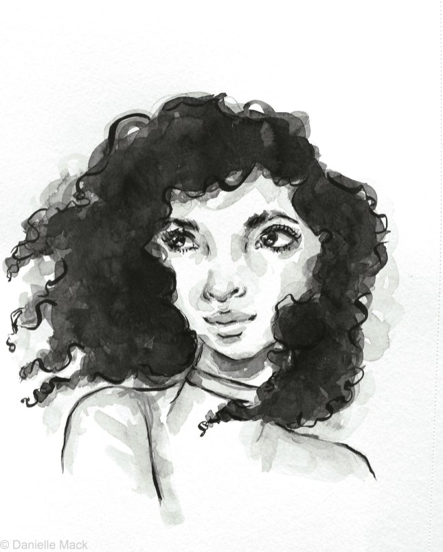 #WorldWatercolorGroup - Watercolor painting by Danielle Mack - wind swept - #doodlewash