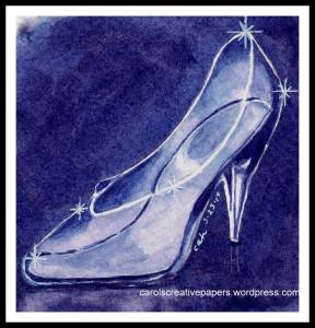 This was my first attempt at painting something transparent. Cinderella Shoe