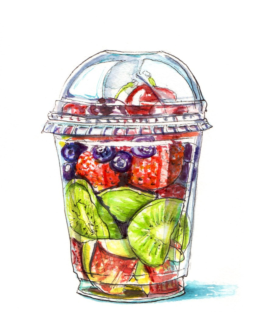 Day 9 – Cute Kitten Golden With Blue EyesDay 10 – Fruit Salad In A Fruit CupDay 11 &#821
