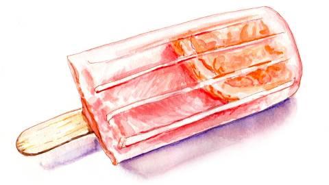 Day 22 - #WorldWatercolorGroup - Summer Frozen Treats Watercolor - #doodlewash