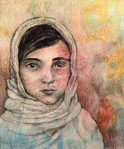 Portrait of girl: watercolor and graphite IMG_6670