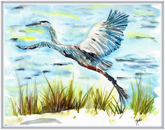 Blue Heron Taking Flight Scan20170604_18364982