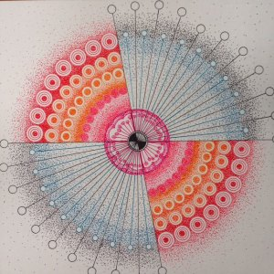Starburst- Pen and Ink Mandala StarBurst