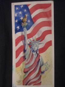 """""""9/11"""" my response to september 11….watercolor on arches. dec 2014 013"""