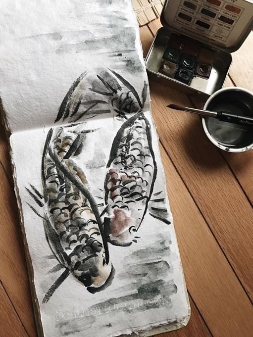 #WorldWatercolorGroup - Watercolor by Catharine Mi-Sook - #doodlewash