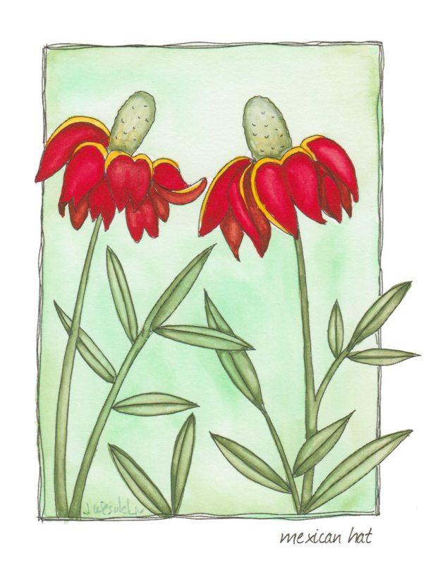 #WorldWatercolorGroup - Watercolor by Jessica Wesolek - mexican hat - #doodlewash