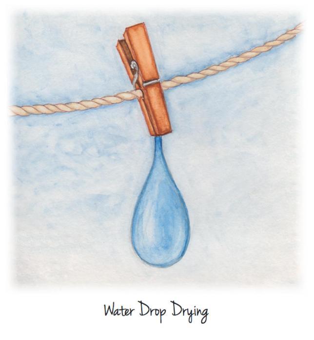 #WorldWatercolorGroup - Watercolor by Jessica Wesolek - Water Drop Drying - #doodlewash