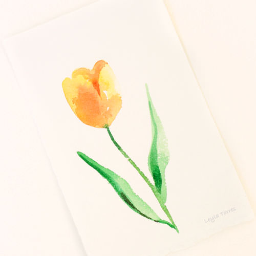To celebrate World Watercolor Month, I\\\'m painting and giving away an original watercolor fl