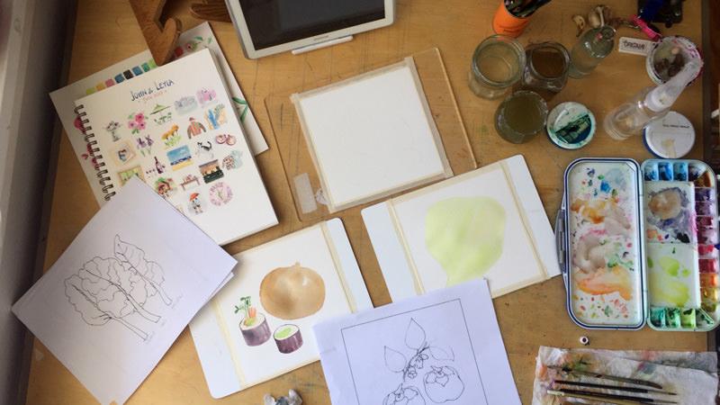 World Watercolor Month - Watercolors by Leyla Torres - Doodlewash