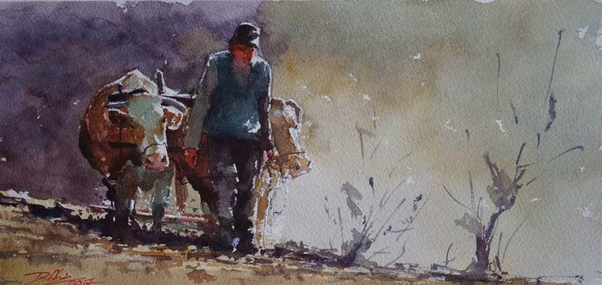 World Watercolor Month - Watercolour Painting by Daniliuc Ionut-Alin - Doodlewash