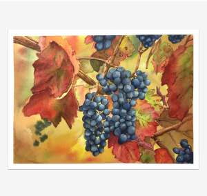 I did not draw very well grapes. But I am very pleased with the selected colors 2017-07-26 02.52
