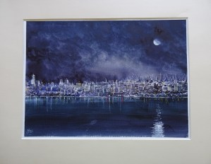 Burgas docks at night Burgas Docks by Moonlight