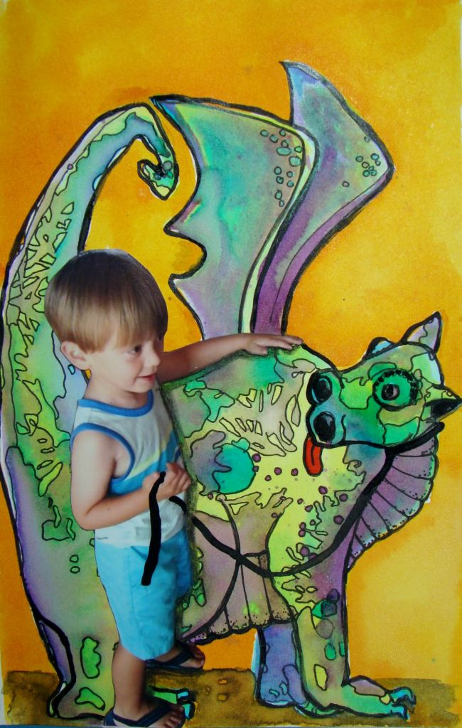 """Day 17, """"A Boy and his pet dragon"""" DSC08199"""