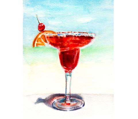 World Watercolor Month – Day 22 – The Colors Of Summer