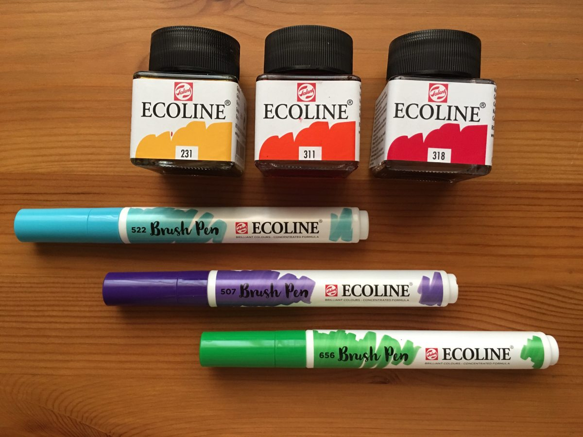 Royal Talens Ecoline watercolors