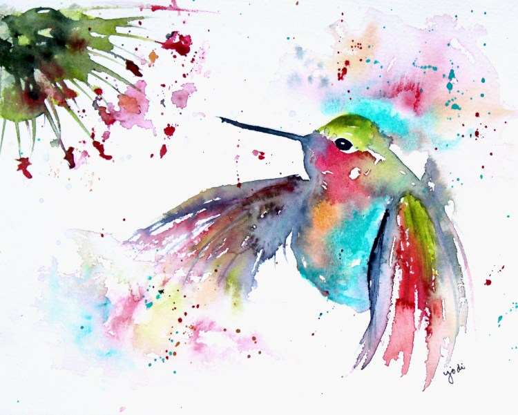 Hummingbird Hummingbird Watercolor 8×10 Saunders 140lb Cold Press W