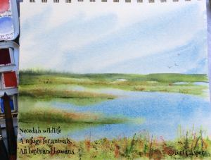 #worldwatercolormonth. Day 20 Yesterday we went to Necedah National Wildlife Refuge which is about 2