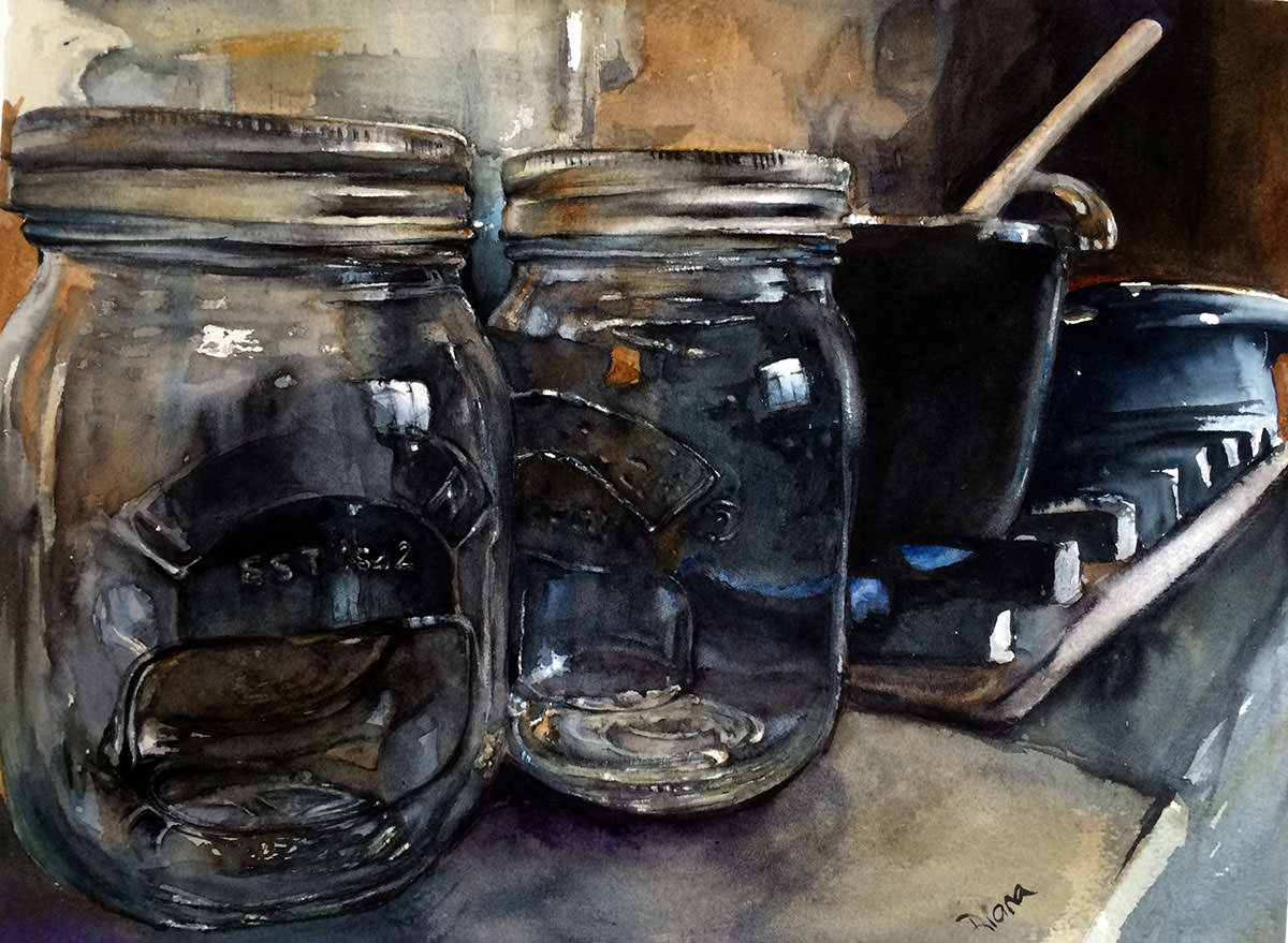 #WorldWatercolorMonth - Watercolour Painting by Diana Boanas - World Watercolor Month - Doodlewash