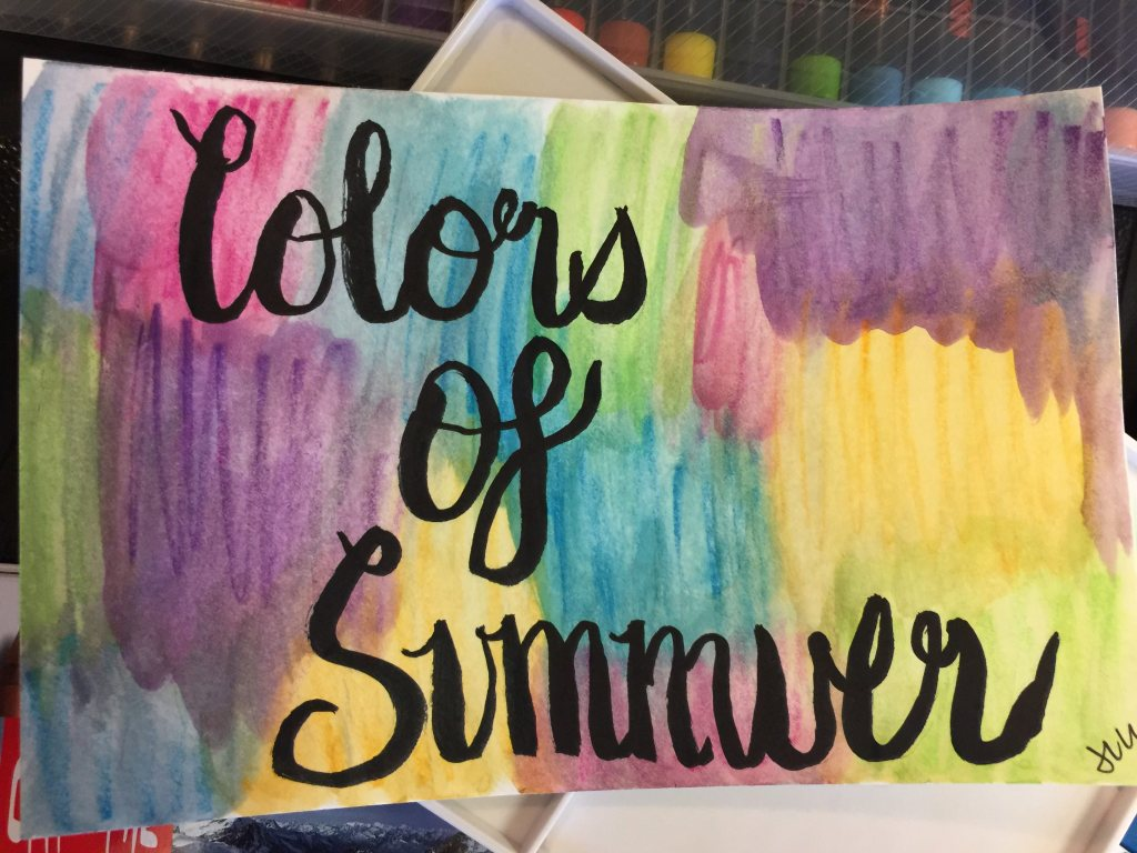 Day 22: Colors of Summer #WorldWatercolorMonth IMG_6119