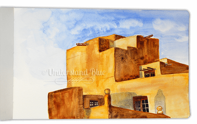 Day 12 – Golden Evenings – this is Santa Fe, my favorite place in the world. This took a