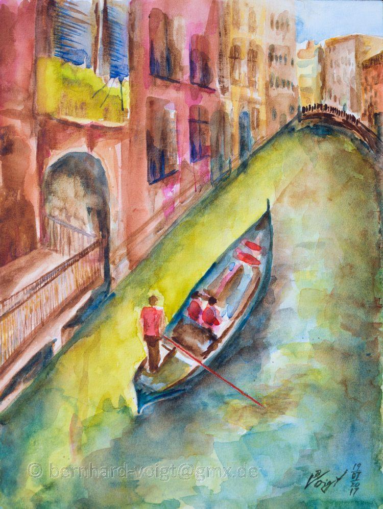 Venedig-Impressionen, Impressions of Venice Watercolour, paper, 30cm x 40cm, rough, 250g Bamberg-Imp