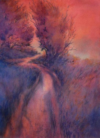 """""""Little Joshua Creek, No. 2″, is an original watercolor 22″ X 15"""" on 300-pou"""