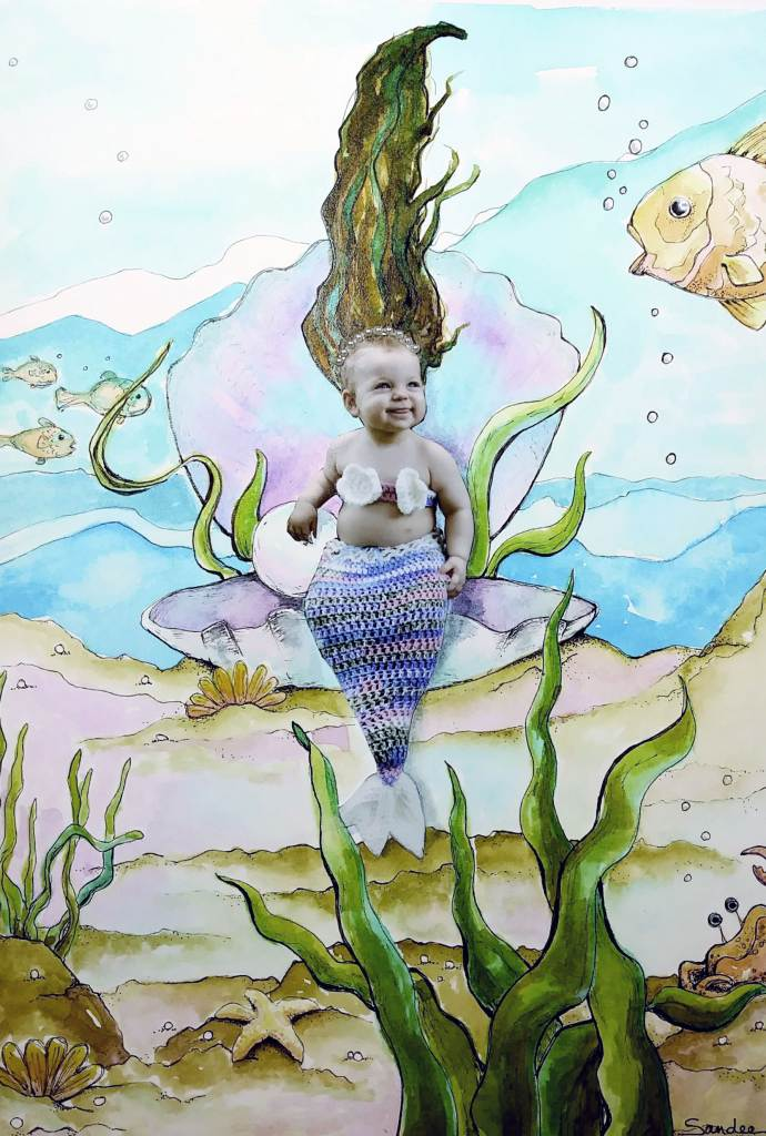 "LAST DAY!! ""Little Mermaid"" Commissioned piece, #Hahnemühle #Leonardo Hahnemühle #Colo"