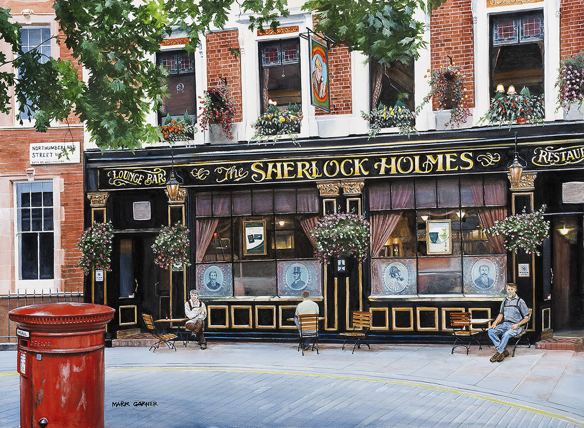 World Watercolor Month - Watercolor by Mark Garner - Sherlock Holmes, London - Doodlewash