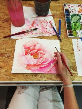 #WorldWatercolorMonth FEATURE - Watercolor painting by Jenna Rainey of Mon Voir - presented by Princeton Artist Brush Co.
