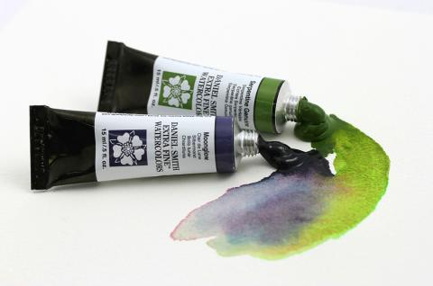 Daniel Smith Extra Fine Watercolors Moonglow and Serpentine Genuine
