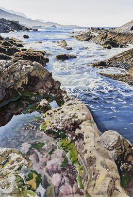 World Watercolor Month - Watercolor by Mark Garner - Point Lobos - Doodlewash