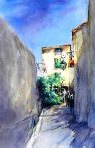 """""""Provence Walk, No. 1"""", """"Little Joshua Creek, No. 2″, is an original waterco"""