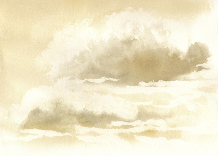 Playing with cloud studies. Stormy