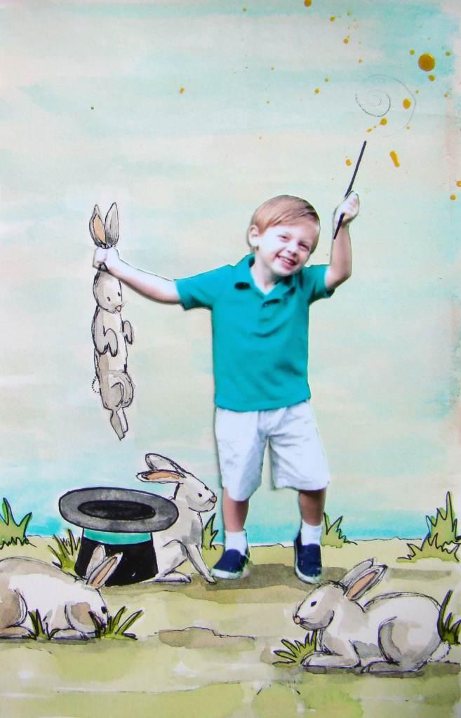 """Day 26, """"Ta-Dah!"""" #WorldWatercolorMonth Ta-dah by sandee setliff"""