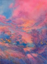 """""""Twilight Time, No. 2″, is an original watercolor 22″ X 15"""" on 300-pound Kil"""