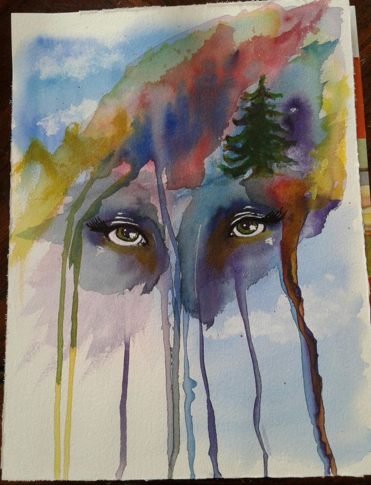 Day 38…I had an idea. (I painted this yesterday, but hubby started a movie as I was finishing.