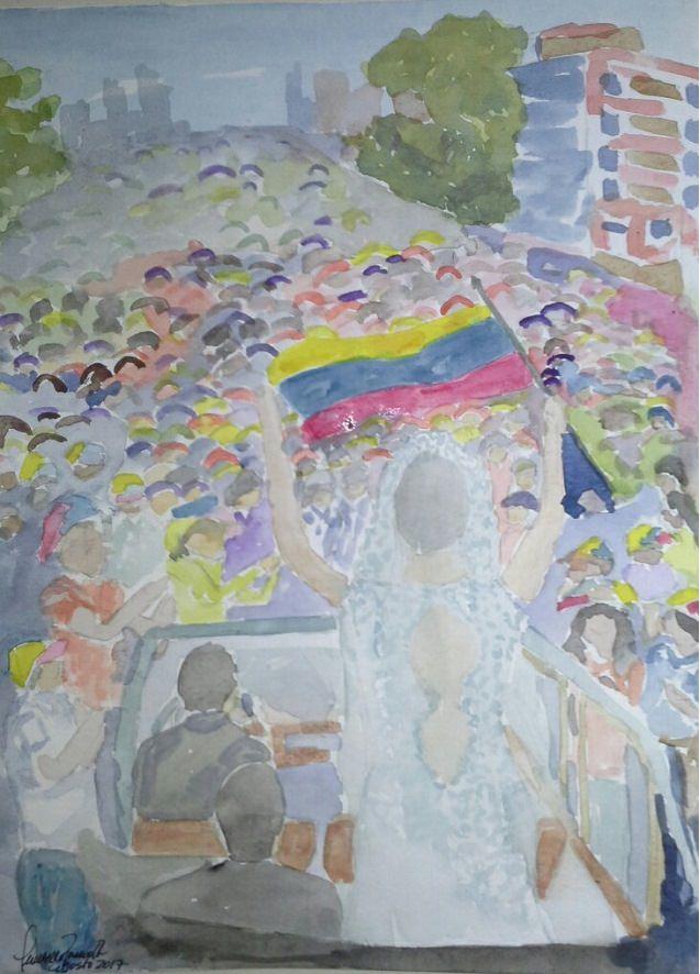 5. The bride who went to the protest 5. Novia en la marcha