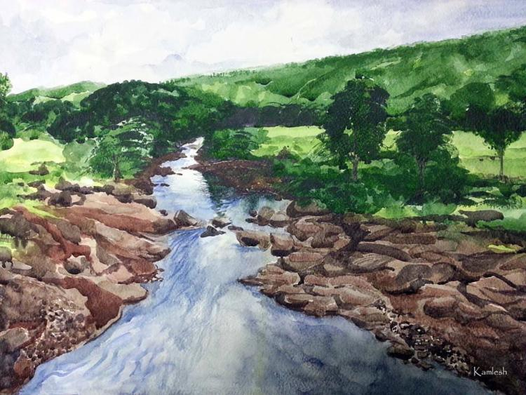 Landscape 14 x 20 Watercolor Landscape 14 x 20 Watercolor