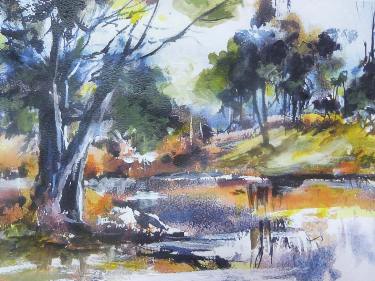 #WorldWatercolorGroup - 'Riverbank' by Di White - Doodlewash