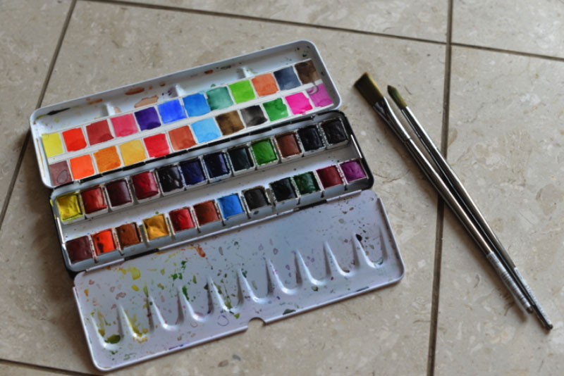 Brittany Lane Allen watercolor palette - Doodlewash