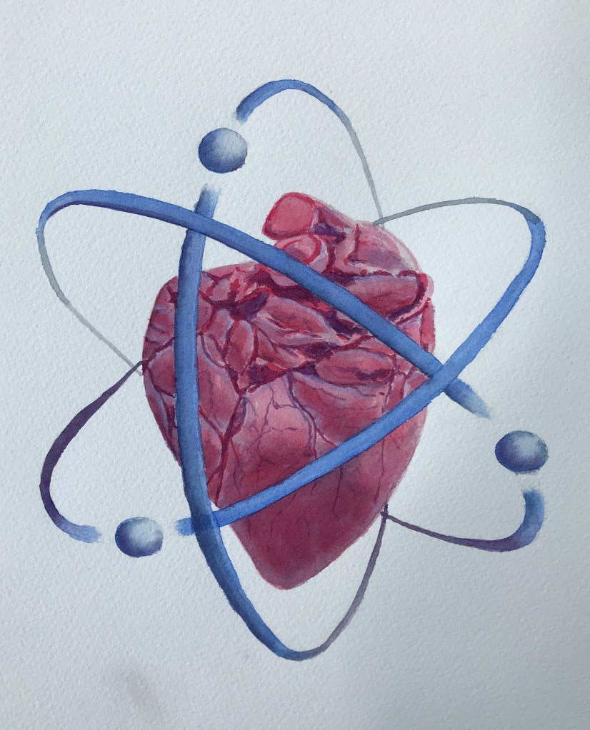 """""""The heart of the matter"""". Not as clean edged as I would like but quite happy with the h"""